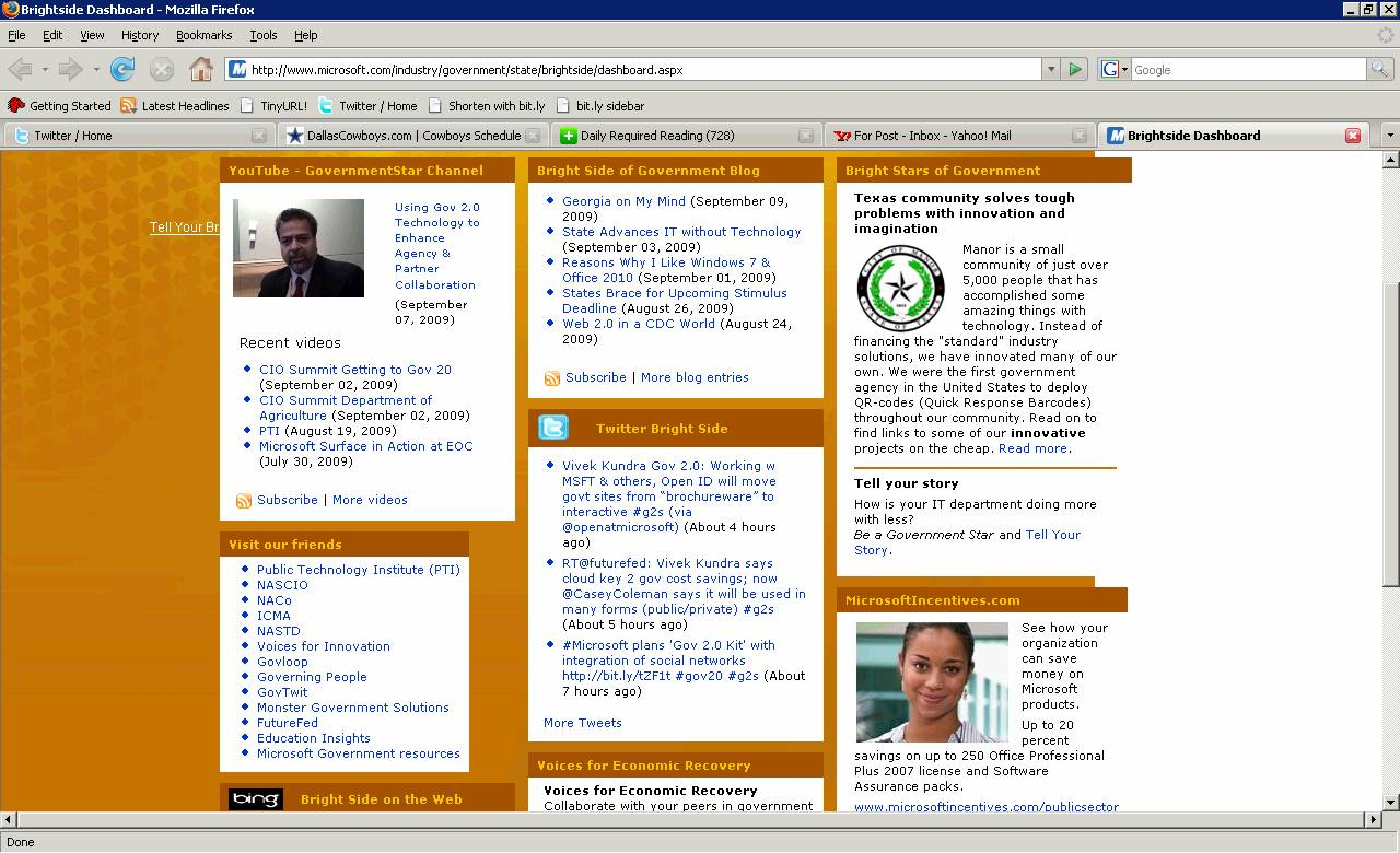 Front Page Screen Capture